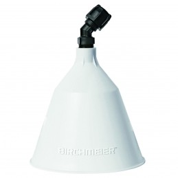 Birchmeier Spuitkap rond,wit, doorsnede 12,5 cm