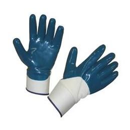 Handschoen NBR blauw met kap